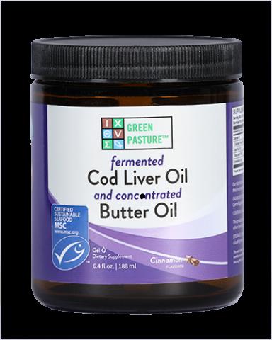 Fermented Cod Liver Oil / Butter Oil Blend - Gel - Cinnamon