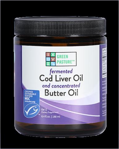 Fermented Cod Liver Oil / Butter Oil Blend - Gel