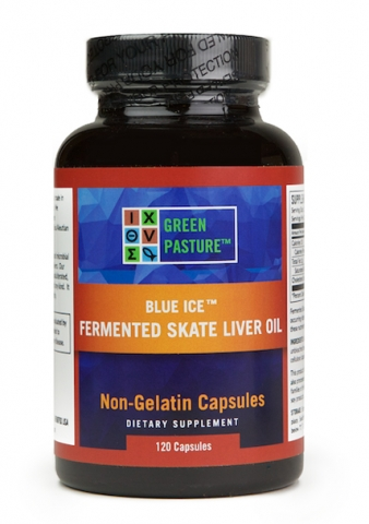 Green Pasture - Fermented Skate Liver Oil  - 120 vegetarian capsules