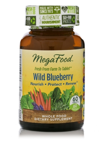 MegaFood - Wild Blueberry - 60 chewable tablets