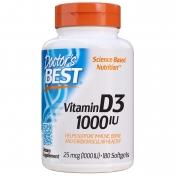 Doctor's Best - Vitamine D3 Softgels - 1000IU