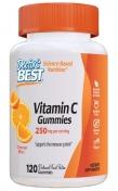 Front view of Doctor's Best Vitamin C Gummies, 120 orange flavored gummies, 250 mg vitamin C per serving
