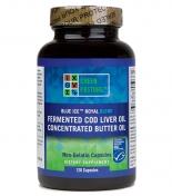 Green Pasture - Fermented Cod Liver Oil / Butter Oil Blend - 120 vegetarian capsules